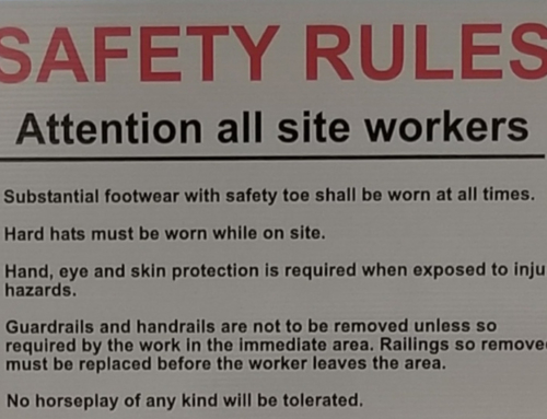 Signage Communicates a Safe and Respectful Work Environment